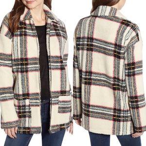 Love, Fire Plaid Fleece Jacket